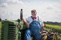 "Farmer Lee Jones: Why the Bibs and Bow Tie?"" Image"